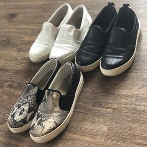 3 top shop slip on sneakers
